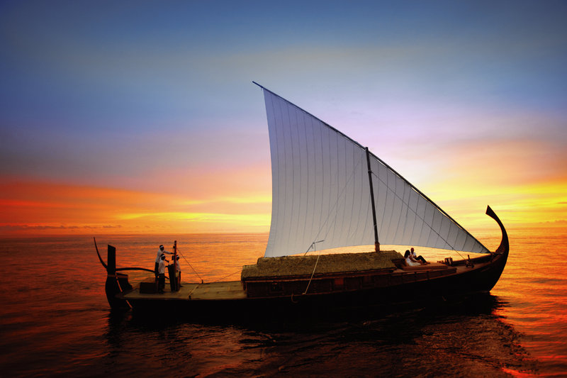 Set sail by traditional Maldivian vessel