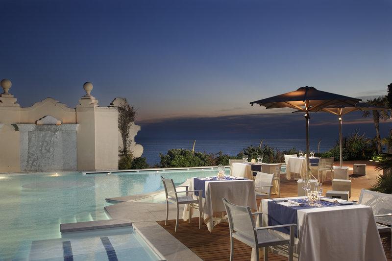 Summer setting of the Gourmet Restaurant