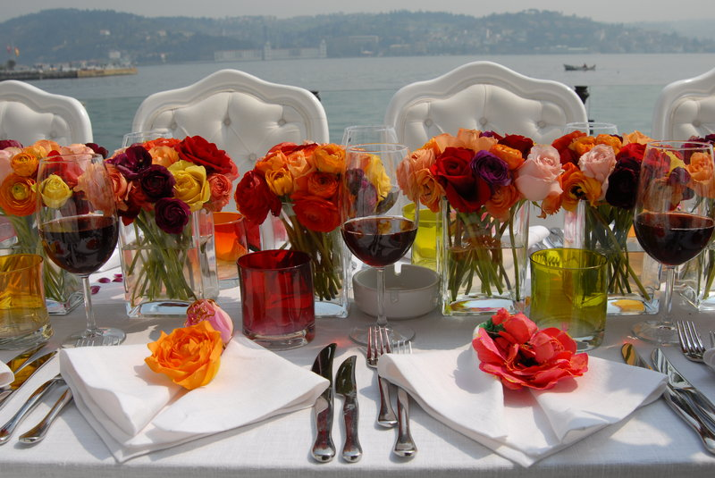 Outdoor function by the Bosphorus