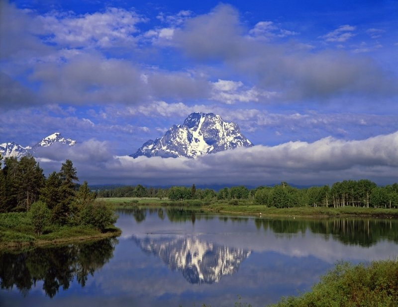 Mt. Moran at Oxbow Bend - Grand Tetons