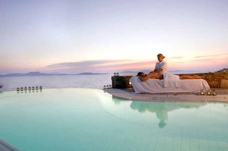 Outdoor Spa treatment at Mykonos Grand