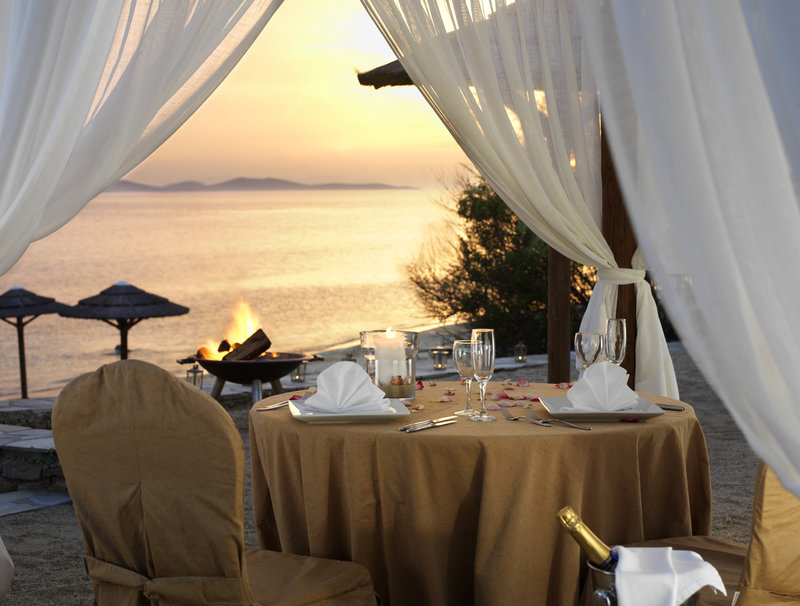Private dinner on the beach for two