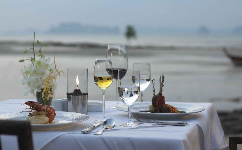 private dinner on beach area