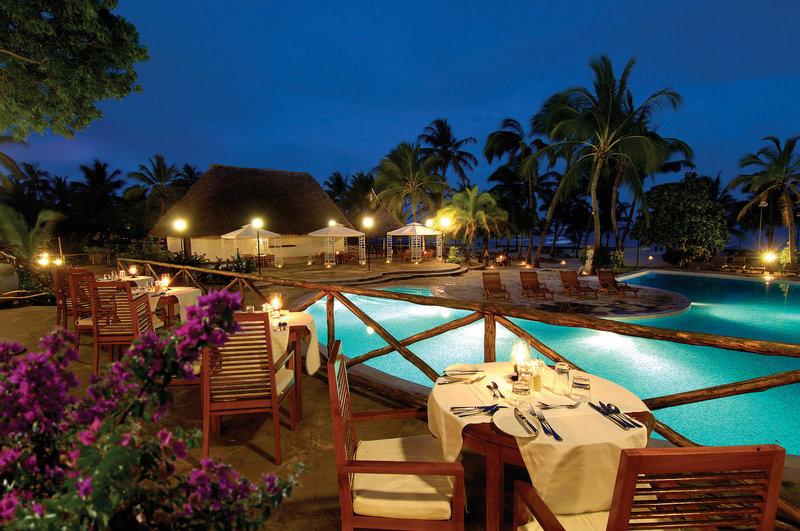 Open-air terrace of the main restaurant