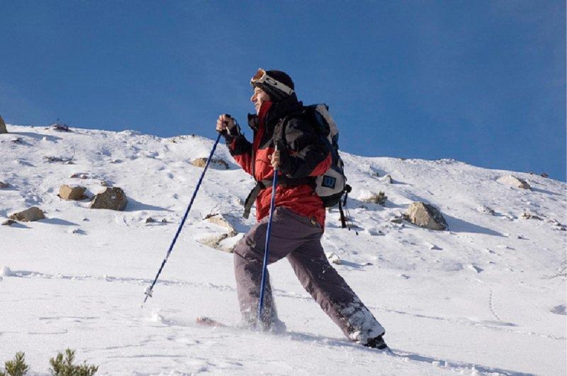 Trekking with Snow Racquets