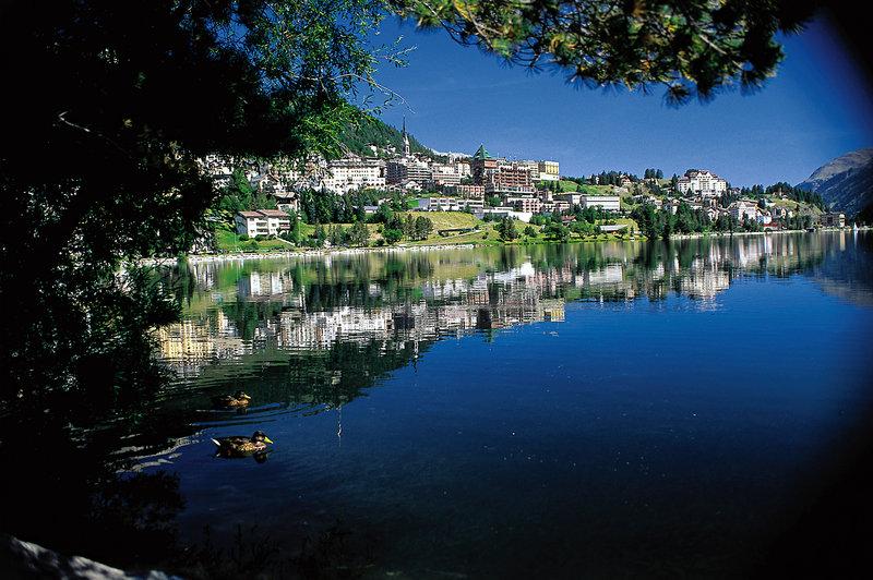 View of St. Moritz in Summer