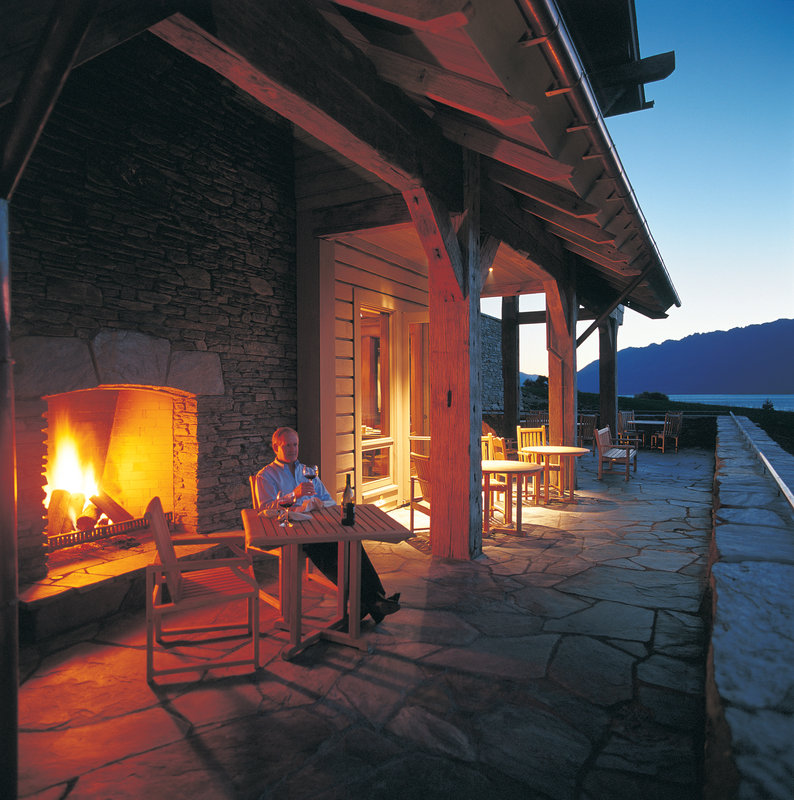 Outside Dining by the Fire