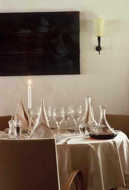 Modern art in the restaurant