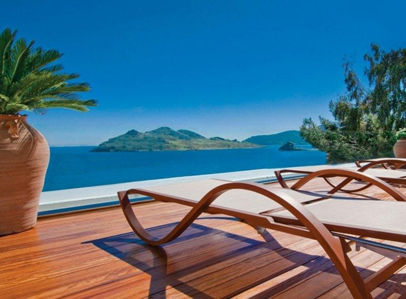 Swimming Pool Deck Sea View