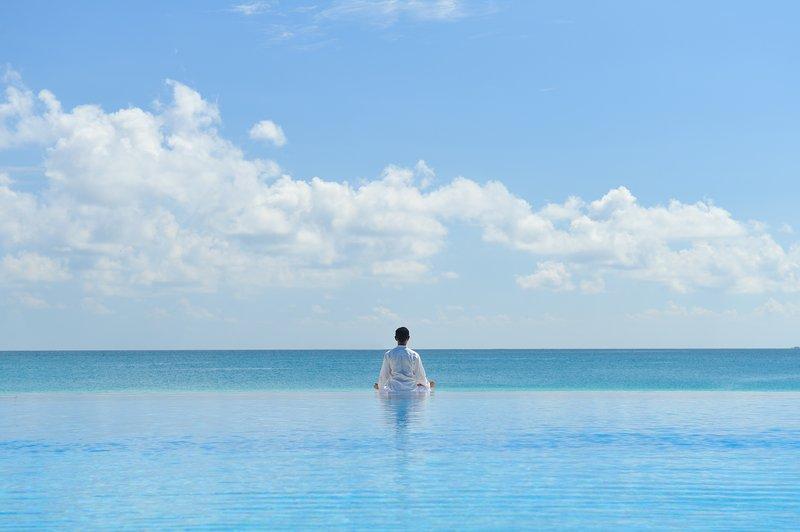 Infinity Pool With Yogi