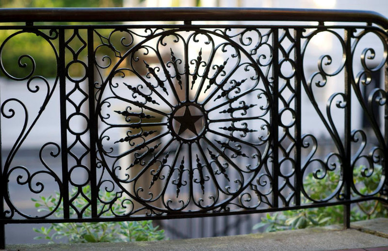 Original wrought iron work