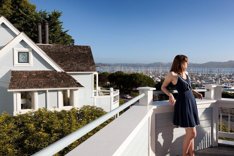 Guest On Hillside Balcony