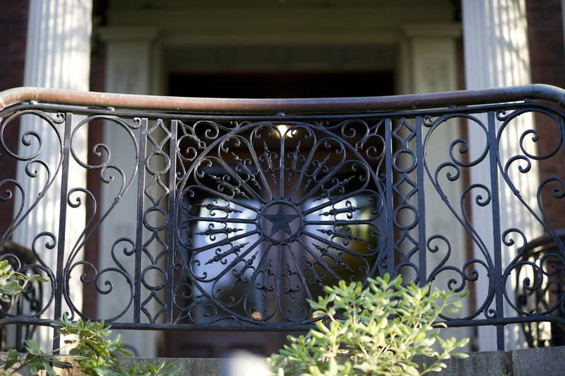 Original wrought iron banisters