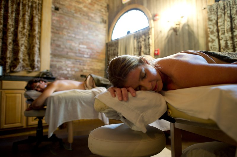 Full service spa in our restored carriage house