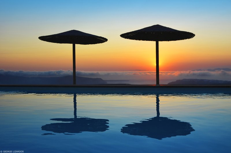 Swimming Pool with Sunset View