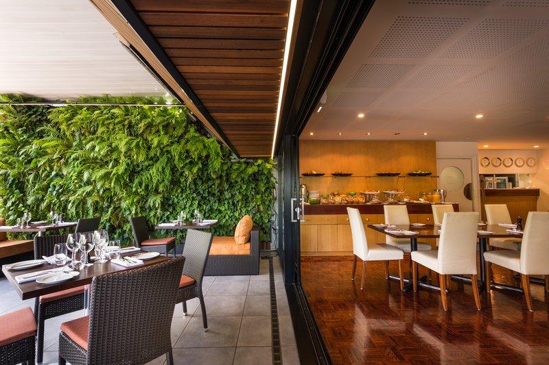 Indoor outdoor dining