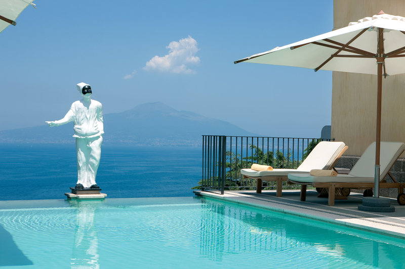 Grand Hotel Angiolieri Swimming Pool With Sea View
