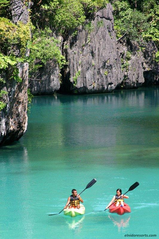 Kayak in the Small Lagoon