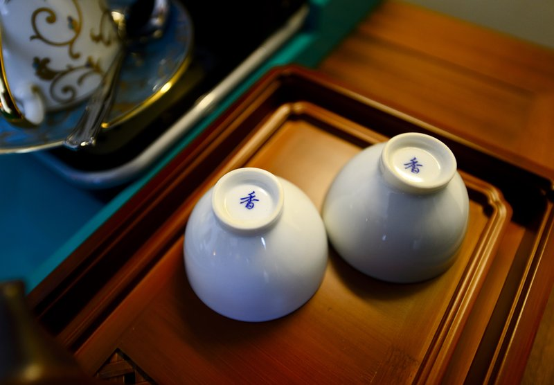 Traditional Chinese Teacups In The Rooms