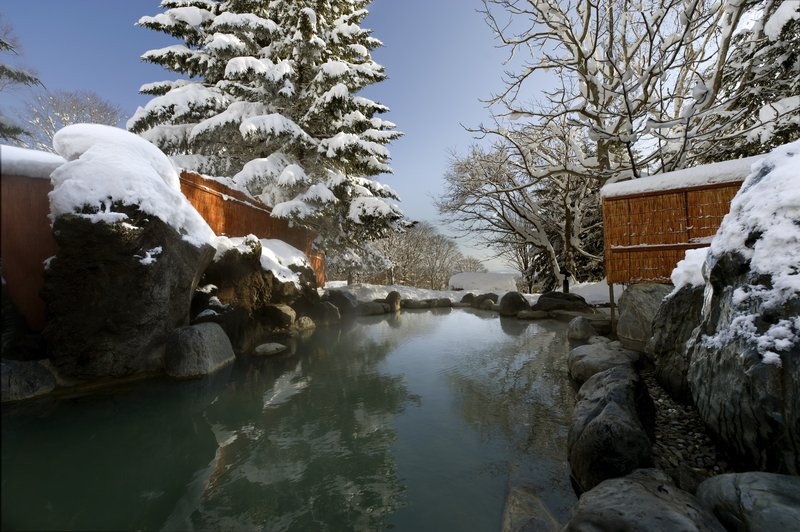 Dipping into the onsen