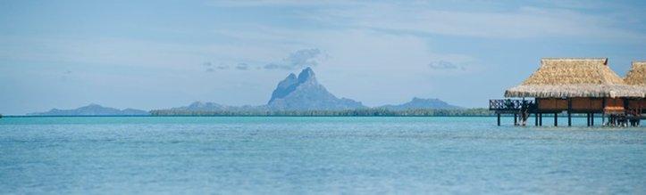 View of Bora Bora from Vahine Island