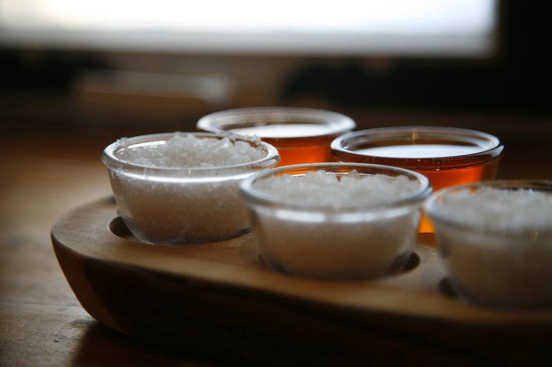 Honey and seasalt at the sauna