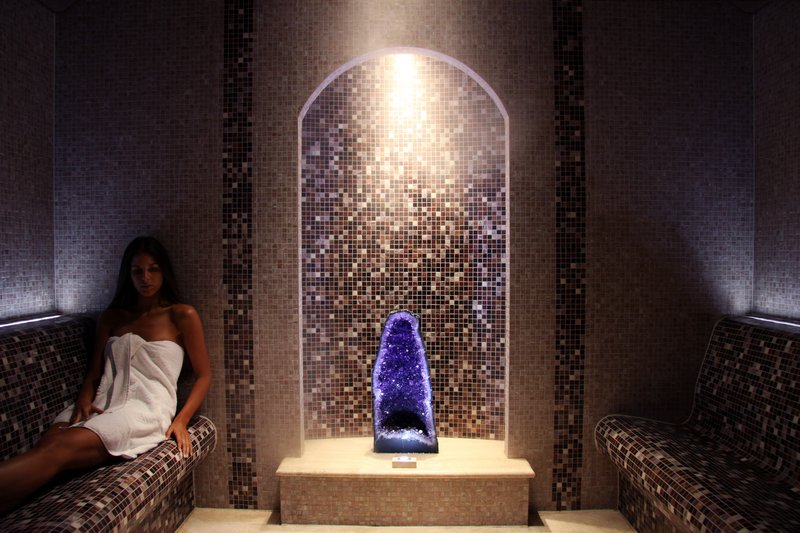 Crystal Steam Room at the Spa at Coral Reef Club