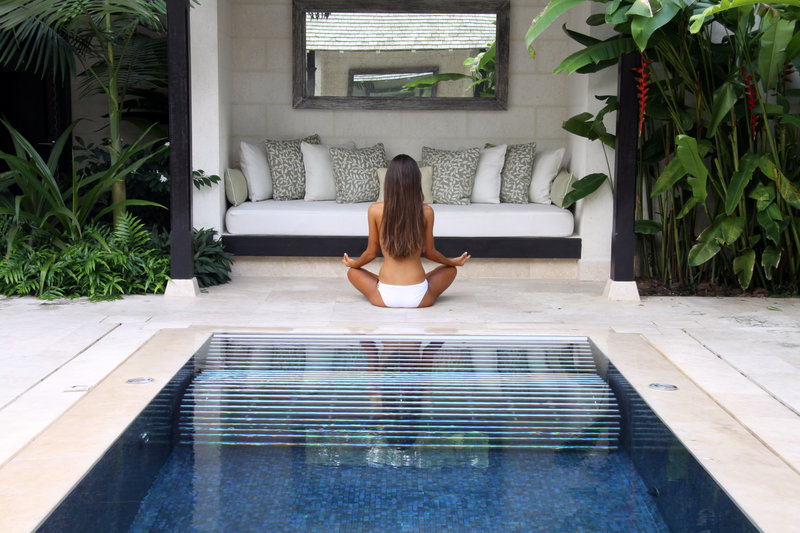 Yoga by The Hydro Pool at the Spa at Coral Reef