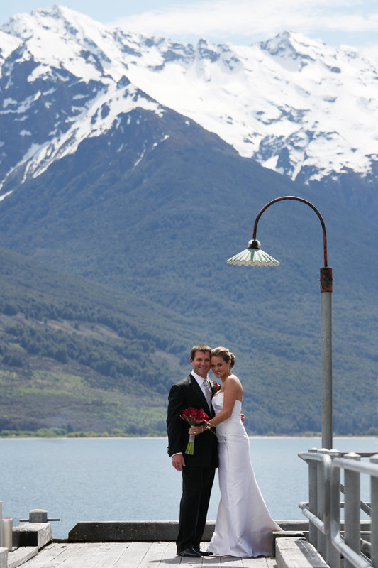 Bride and Groom at Blanket Bay