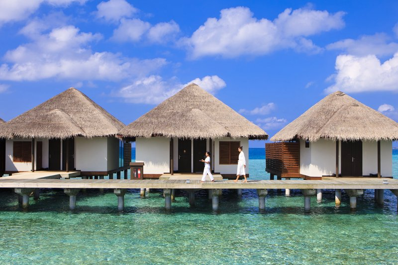 Overwater spa treatment pavilions