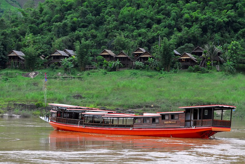 Cruising along Mekong River