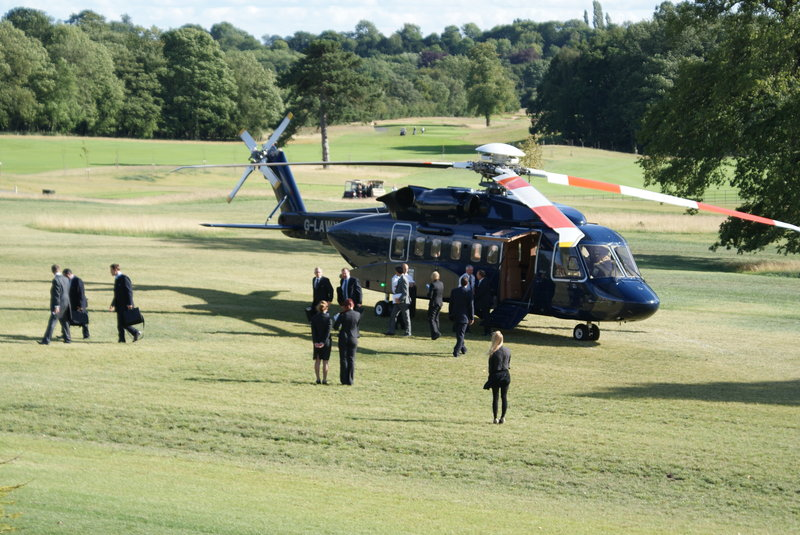 Helicopter Landing at Rockliffe Hall