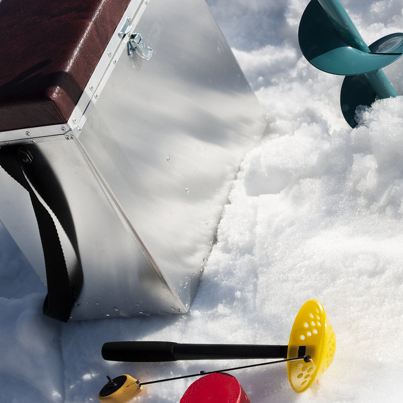 Experience ice fishing on the lake