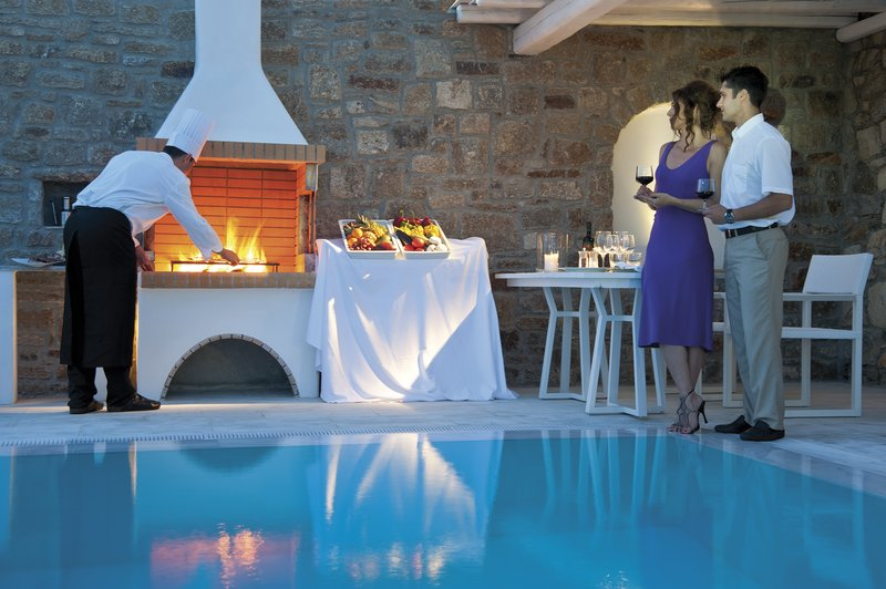 Private Greek BBQ experience by suite pool
