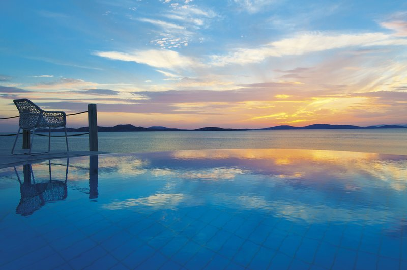 Private Infinity Pool Sunset