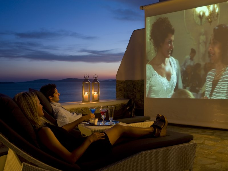 Outdoor Mykonos Cinema experience