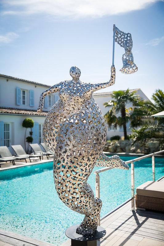 Main Pool Statue