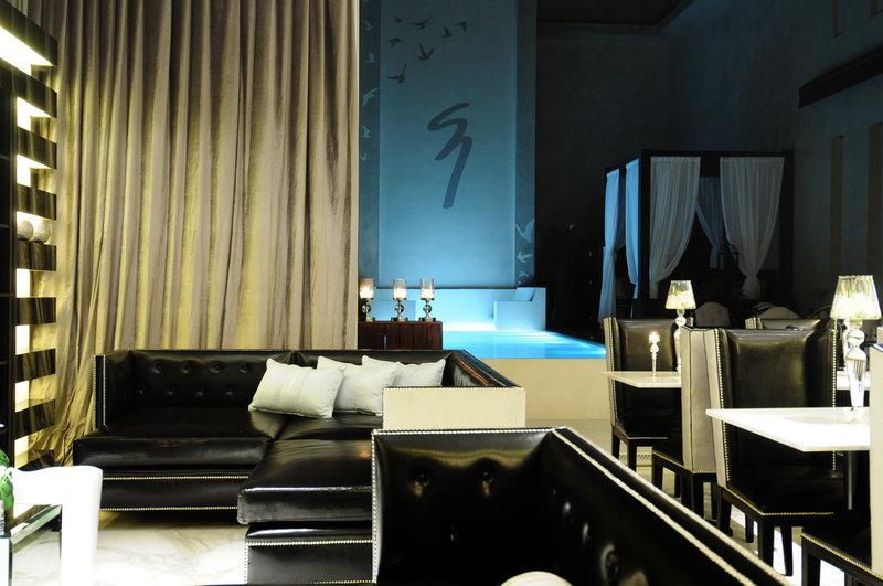 Glamorous marble lobby lounge