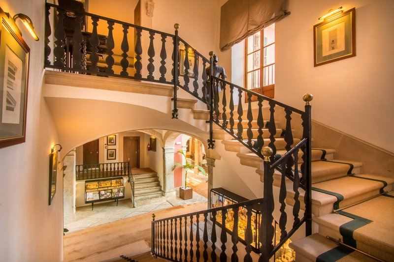 Staircase to the upper floors