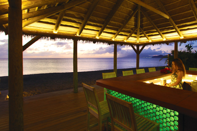 Our private beach bar at sunset
