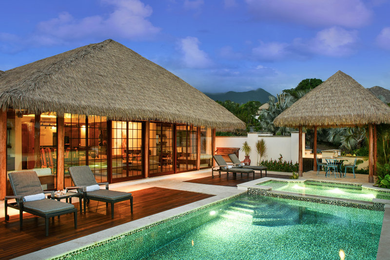 Private pools for each villa