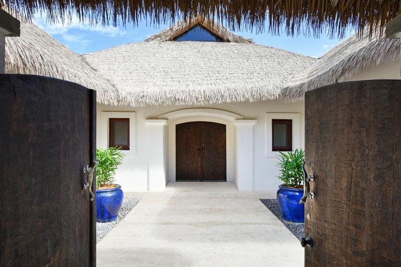 The villas exterior