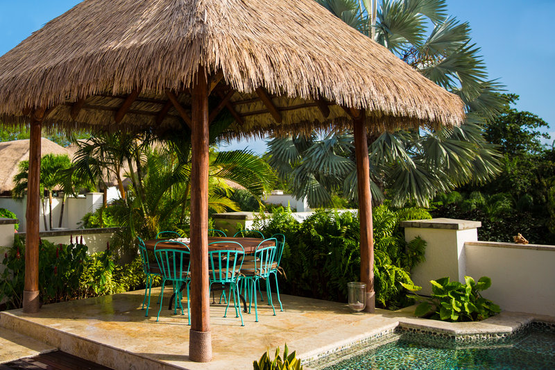 Private cabanas with all villas
