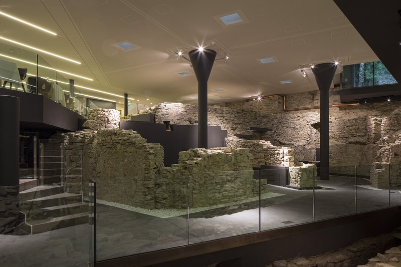 Archeological Area in the Restaurant