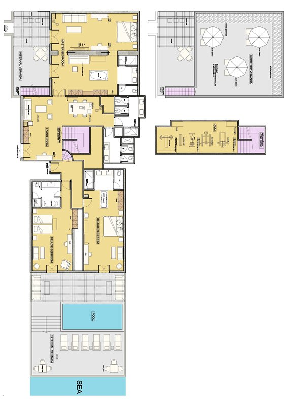 Diamond Rooftop Floor Plan