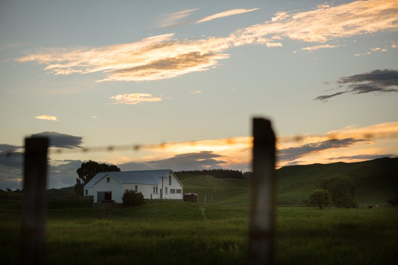 Sunset over the woolshed