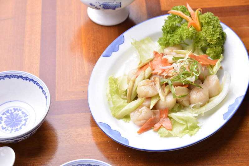Stir Fried Scallops With Ginger Wine