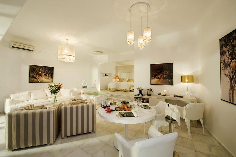 Grand Suite Spacious Bedroom & Living Room