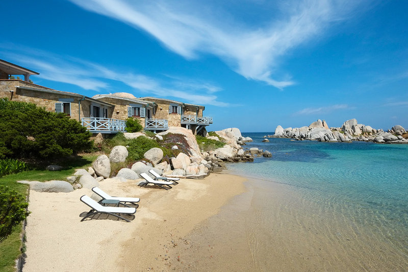 The exclusive private beach