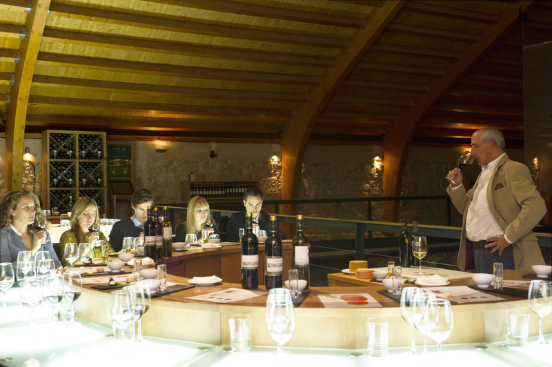 Enjoy a private wine tasting in the wine cellar